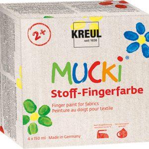 MUCKI Stoff Fingerfarben 4er Set