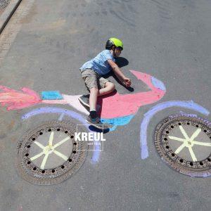 KREUL-Streety-Straßenmalfarbe-Motorrad