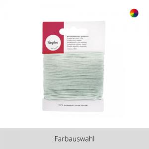 Baumwollkordel gewachst 1 mm – Farbauswahl