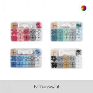 Silikonperlen Box – Farbauswahl