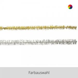 Chenilledraht – gold/silber