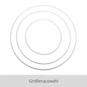 Metallring weiß – Größenauswahl