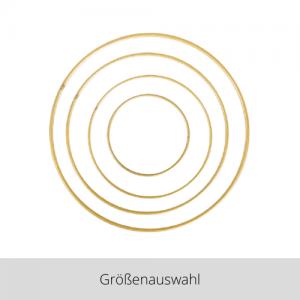 Metallring gold – Größenauswahl