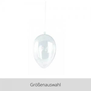 Plastik Ei 2 teilig transparent – Größenauswahl