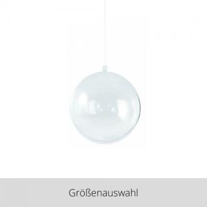 Plastik Kugel 2 teilig transparent – Größenauswahl