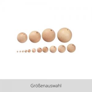 Rohholzkugeln gebohrt – Größenauswahl