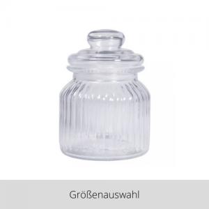 Vorratsglas gerillt – Größenauswahl