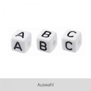 Perle Buchstabe weiß/schwarz – Auswahl