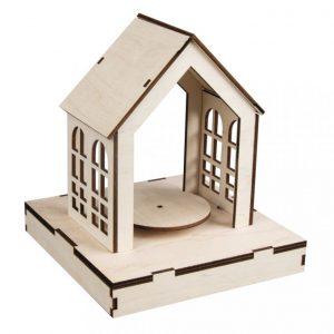 Holzbau – Set Haus mit Drehfunktion