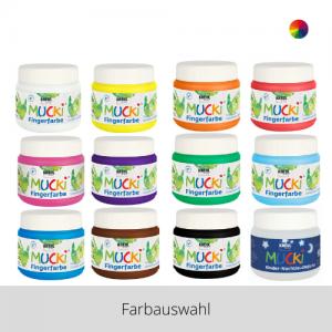 MUCKI Fingerfarben 150 ml – Farbauswahl