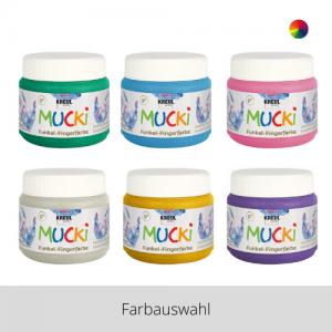 MUCKI Funkel Fingerfarben 150 ml – Farbauswahl