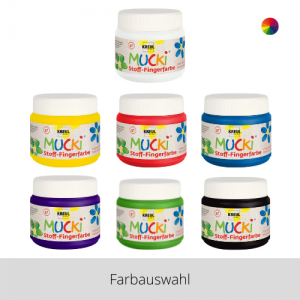 MUCKI Stoff Fingerfarben 150 ml – Farbauswahl