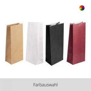 Papier Blockbodenbeutel 25 Stück – Farbauswahl