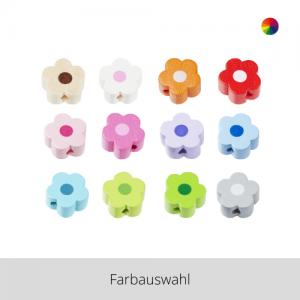SCHNULLI Holzperlen Blümchen – Farbauswahl