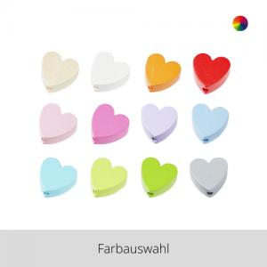 SCHNULLI Holzperlen Herz – Farbauswahl