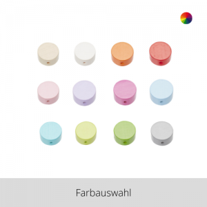 SCHNULLI Holzperlen Scheibe – Farbauswahl