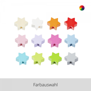 SCHNULLI Holzperlen Stern – Farbauswahl