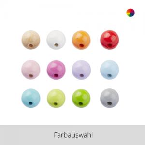 SCHNULLI Holzperlen 15 mm – Farbauswahl