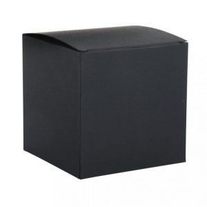 Faltschachtel schwarz 10 cm – 3 Stück