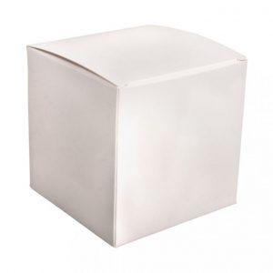 Faltschachtel weiß 10 cm – 6 Stück