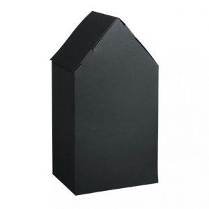 Faltschachtel Haus groß schwarz – 3 Stück