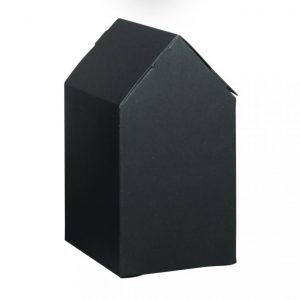 Faltschachtel Haus klein schwarz – 6 Stück