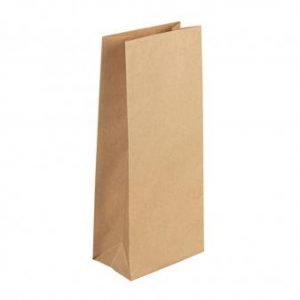Papier Blockbodenbeutel 25 Stück – Farbauswahl – kraft