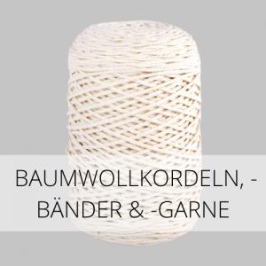 Baumwollkordeln, -bänder & -garne