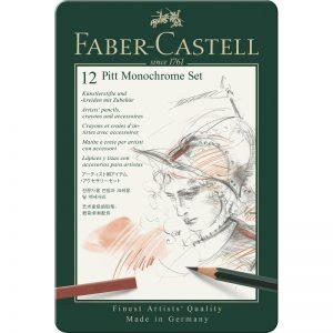 Faber Castell Pitt Monochrome Set – 12er