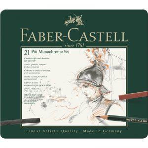 Faber Castell Pitt Monochrome Set – 21er