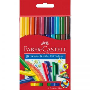 Faber Castell Connector Filzstifte – 10er Set