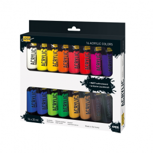 KREUL Solo Goya Acrylfarben 20 ml – 16er Set