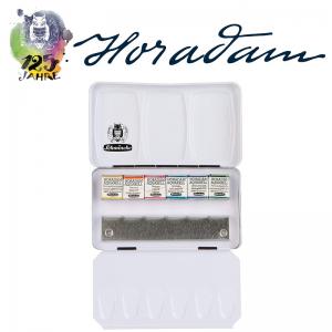 Schmincke HORADAM Aquarellkasten – 6 halbe Näpfchen