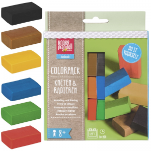 Kneten & Radieren Set – Colorpack Basic