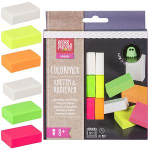 Kneten & Radieren Set – Colorpack Neon