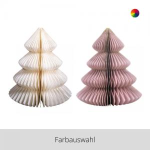 Papier Ornament Baum groß – Farbauswahl
