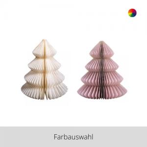 Papier Ornament Baum klein – Farbauswahl
