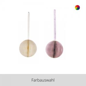 Papier Ornament Kugel – Farbauswahl