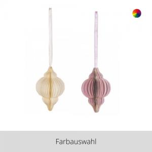 Papier Ornament Tropfen – Farbauswahl