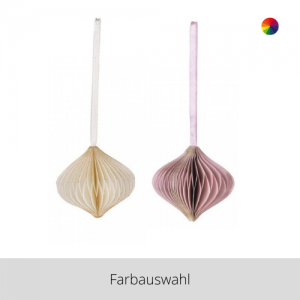 Papier Ornament Zwiebel – Farbauswahl