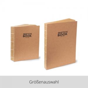 Skizzenbuch Kraftpapier – Größenauswahl