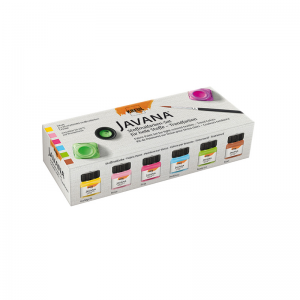 KREUL Javana Stoffmalfarbe für helle Stoffe Set – Trendfarben