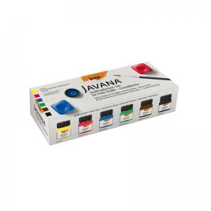 KREUL Javana Stoffmalfarbe für helle Stoffe Set – Grundfarben