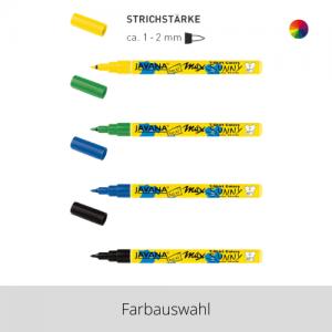 KREUL Javana Stoffmalstift für helle Stoffe fine – Farbauswahl